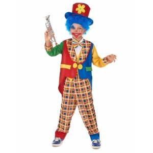 Vegaoo.se Häftig clown - utklädnad barn - 130 - 140 cm L (10 - 12 år)
