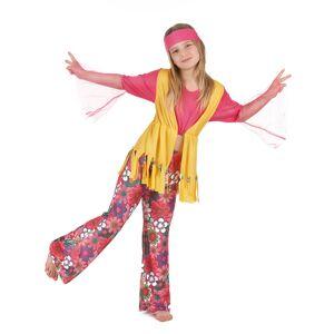 Vegaoo.se Glada Gloria - Hippiedräkt för barn - 110 - 120 cm S (4 - 6 år)