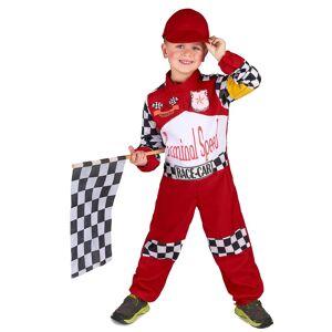 Vegaoo.se Racerförardräkt för barn till maskisen - 120 - 130 cm M (7 - 9 år)