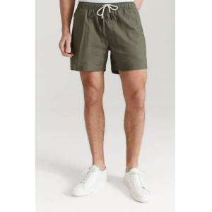 Oas Shorts Beige Linen Shorts Grön
