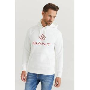 Gant Hoodie D1. Color Lock Up Hoodie Vit