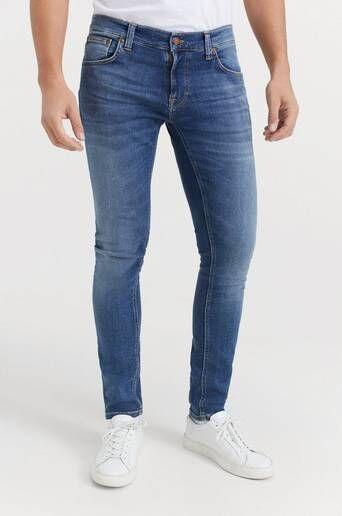 Nudie Jeans Jeans Tight Terry Steel Navy Blå