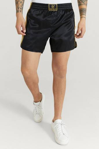 Siksilk Shorts Muay Tie Satin Shorts Svart  Male Svart