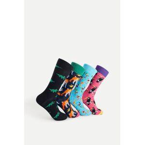 Happy Socks 4-Pack Strumpor Animal Gift Box Multi