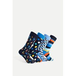 Happy Socks 4-Pack Strumpor Navy Gift Box Blå