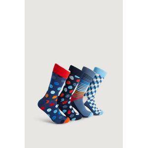 Happy Socks Strumpor 4-Pack Navy Socks Gift Set Multi