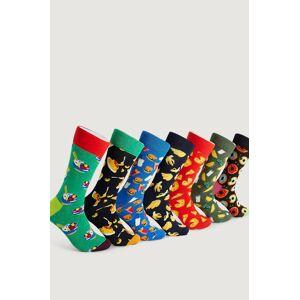 Happy Socks Strumpor 7-Pack 7 Days Of Food Socks Gift Set Multi