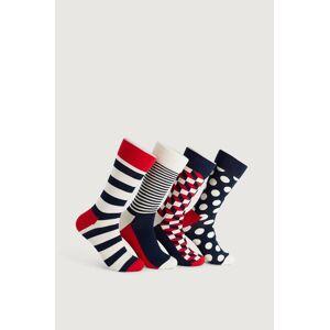 Happy Socks 4-Pack Strumpor Classic Navy Socks Gift Set Multi