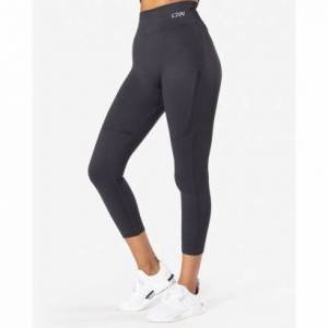 ICANIWILL Ribbed Seamless Tights, Graphite