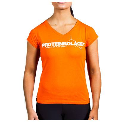 Proteinbolaget Logo Girl T-shirt, Orange, Xl