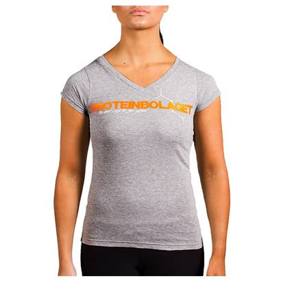 Proteinbolaget Logo Girl T-shirt, Grey, L