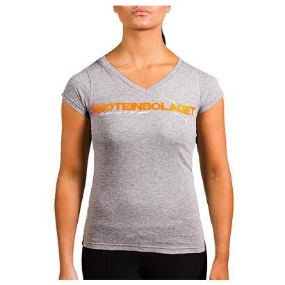 Proteinbolaget Logo Girl T-shirt, Grey, Xl