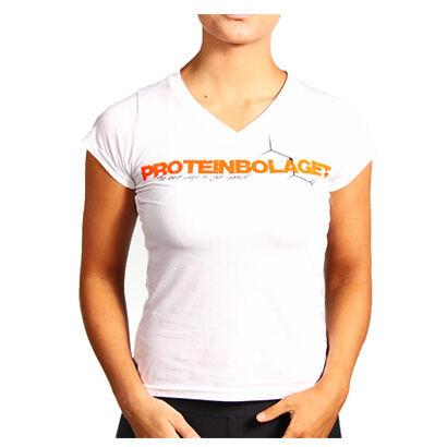 Proteinbolaget Logo Girl T-shirt, White, Xxl