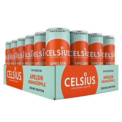 Celsius 24 x Celsius, 355 ml, Apelsin/Granatäpple
