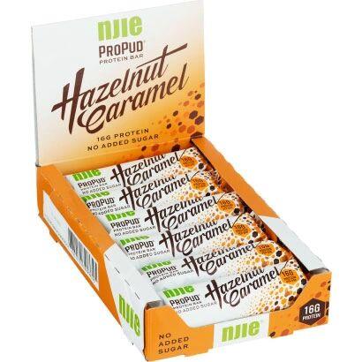 NJIE 12 x NJIE ProPud Proteinbar, 55 g, Hazelnut Caramel