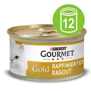 Gourmet 12x85g Ragout Nötkött Gourmet Gold kattmat