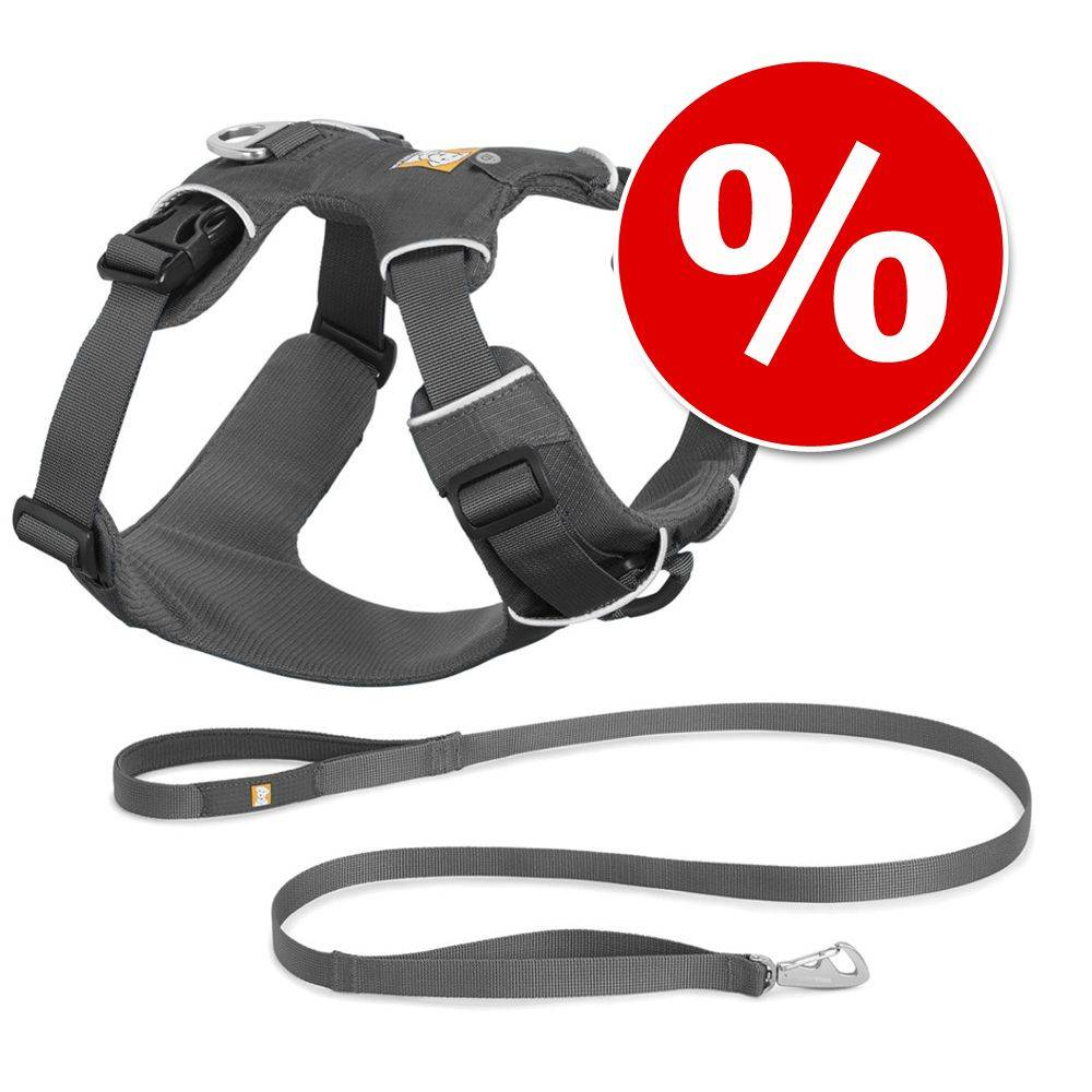 Ruffwear Front Range Harness hundsele + Front Range Leash koppel i set - Stl. L-XL: 81-107 cm brstomfng, B 25 mm