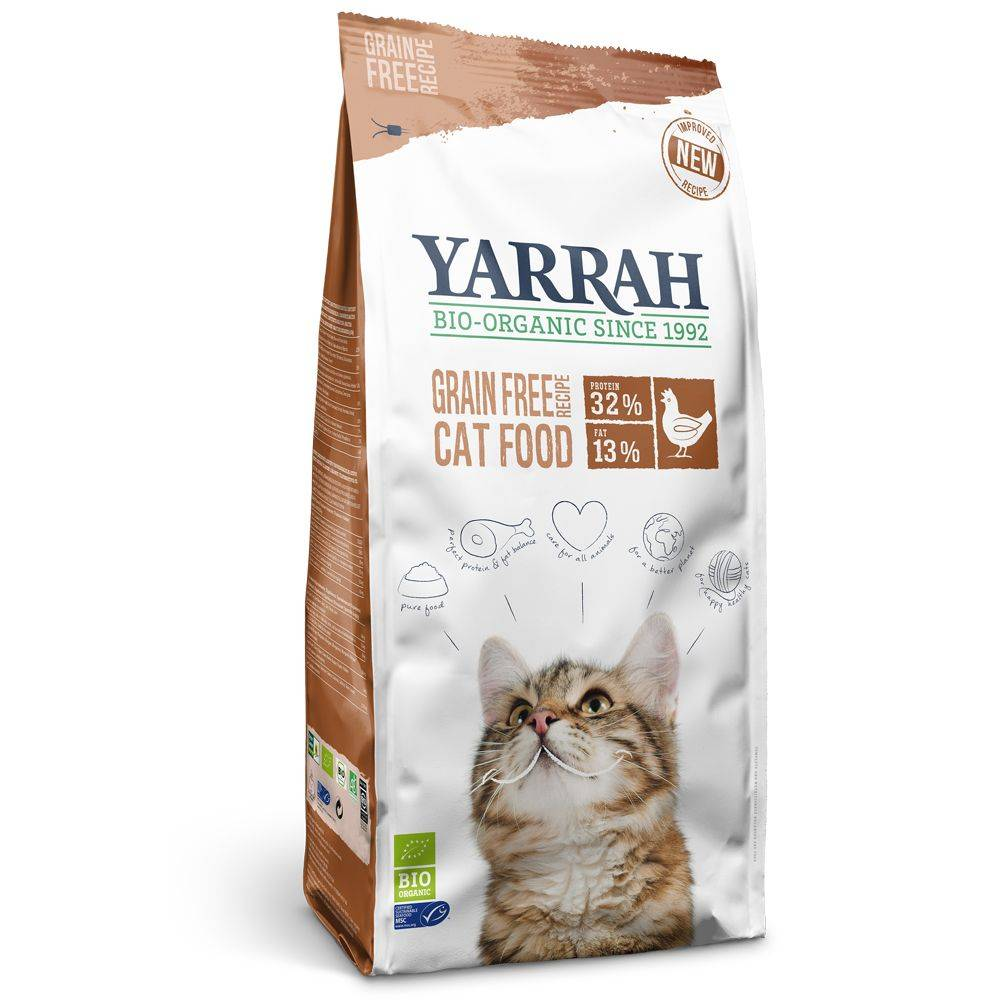 Yarrah Organic med ekologisk kyckling & fisk - spannmålsfritt - 2,4 kg