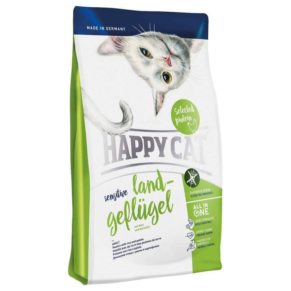 Happy Cat Sensitive Countryside Poultry - 2 x 4 kg