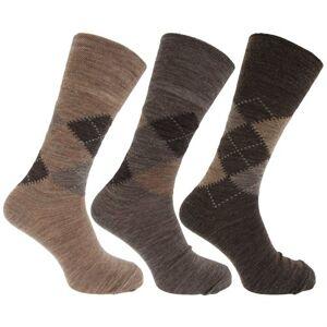 Universal Textiles Traditionella Argyle Mönster För Icke-Elastiska Lammar För Ullblandning För Män (Paket Med 3)