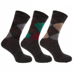 Universal Textiles Män Traditionella Argyle Mönster Lammar Ullblandningstrumpor Med Lycra (Paket Med 3)