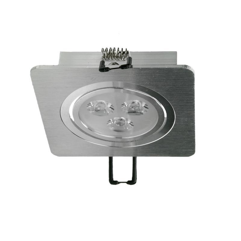 Ecd-Germany Led Infälld Ljus Infälld Ljus Taklampa Lampa 3w Värma Vit 10-Set