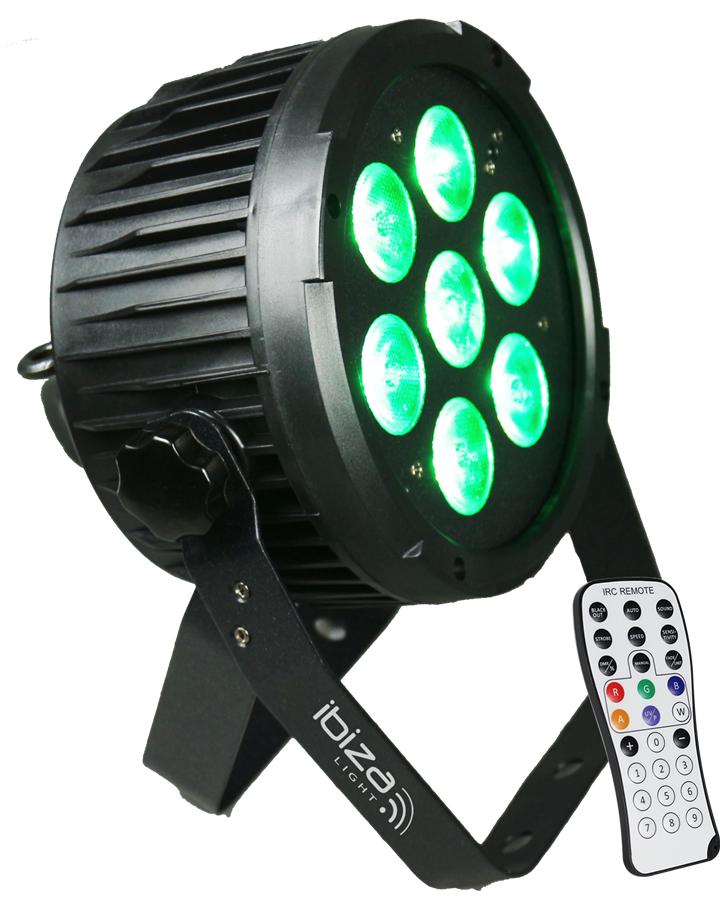 Ibiza Light 7x12w Led Dmx Rgbwa-Uv Par Lampor