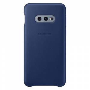 Samsung Leather Cover Galaxy S10e - Blå