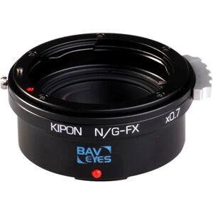 Kipon Adapter 0.72x för användning av Nikon F- objektiv på Fujifilm X kameror