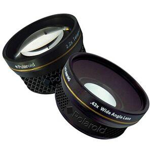 Polaroid Konverterlinsset Studio, vidvinkel+tele för video-, kompakt- och spegelfri kamera