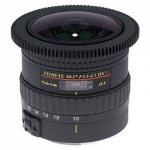 Tokina AT-X 10-17/3,5-4,5 DX NH V Fisheyezoom till Canon