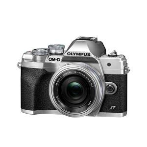 Olympus E-M10 Mark IV kamerahus silver + M.Zuiko Digital 14-42/3,5-5,6 EZ