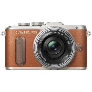 Olympus E-PL8 Pen brun + M.Zuiko 14-42/3,5-5,6 EZ ED MSC silver