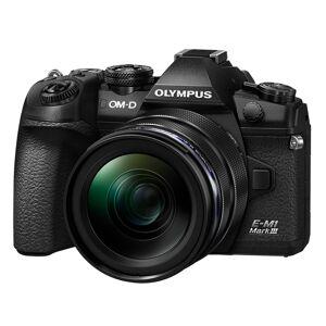 Olympus E-M1 Mark III kamerahus svart + M.Zuiko Digital ED 12-40/2,8 PRO