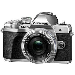 Olympus E-M10 Mark III kamerahus silver + M.Zuiko Digital 14-42/3,5-5,6 EZ + M Zuiko Digital 45/1,8 Silver