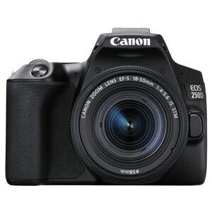 Canon EOS 250D hus, svart + EF-S 18-55/4-5,6 IS STM