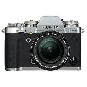 Fujifilm X-T3 kamerahus, silver + XF 18-55/2,8-4 R LM OIS + Batterigrepp VG-XT3