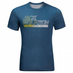 Jack Wolfskin Men's Ocean Tee Blå