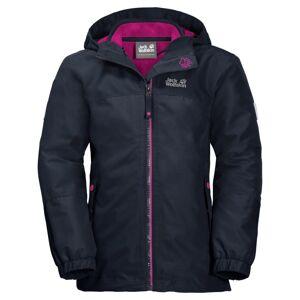 Jack Wolfskin Girl's Iceland 3-in-1 Jacket Blå