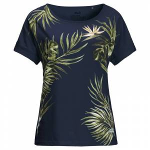 Jack Wolfskin Women's Tropical Leaf Tee Blå