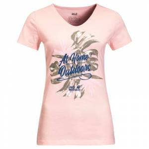 Jack Wolfskin Women's At Home Tee Rosa