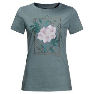 Jack Wolfskin Women's Himalaya Flower Tee Blå