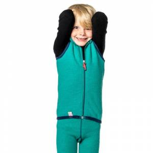 Woolpower Kids Vest 400 Grön