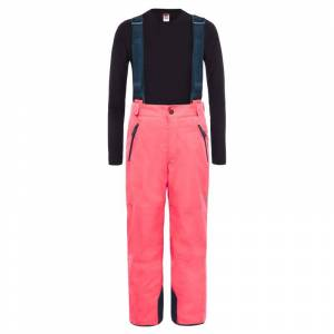 The North Face Youth Snowquest Suspender Plus Pants Röd