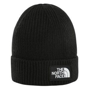 The North Face Youth Box Logo Cuff Beanie Svart