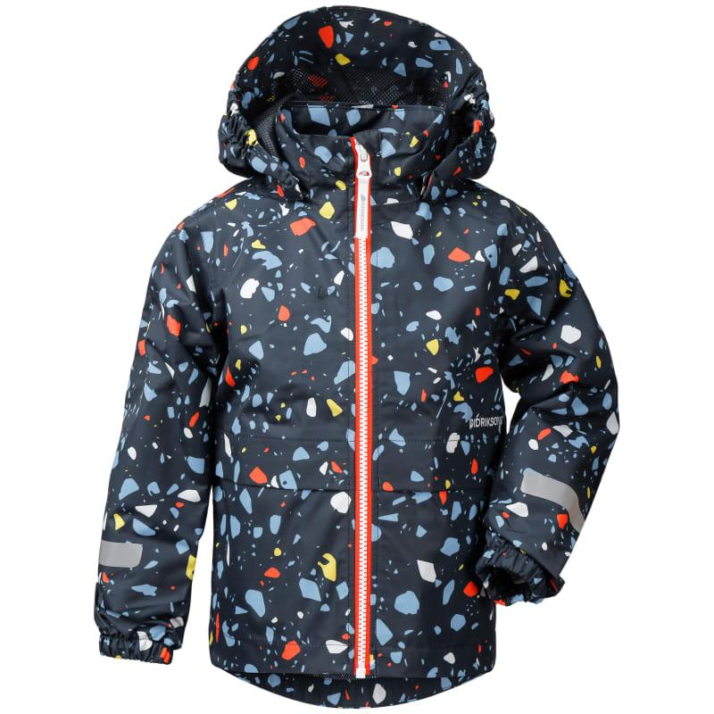 Didriksons Droppen Printed Kids Jacket Blå