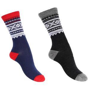 Marius Kids Thin Wool Socks 2-pack Flerfärgad