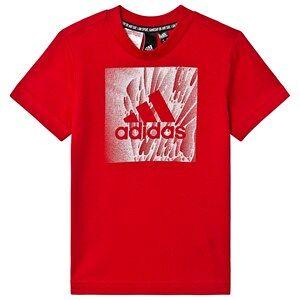 adidas Performance Box Logo T-shirt Röd 4-5 years (110 cm)