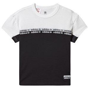 adidas Originals Logo T-Shirt Svart/Vit 4-5 years (110 cm)