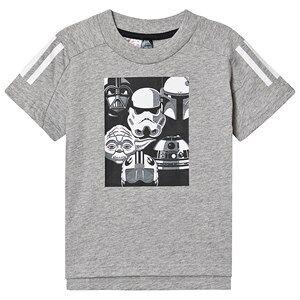 adidas Performance Självlysande Star Wars T-shirt Grå 18-24 months (92 cm)